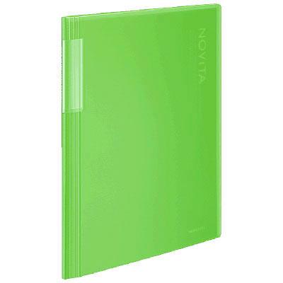 コクヨ クリヤーブック<ノビータ> クリアカラー 20ポケット ライトグリーン ラ-N20LG 1箱(10冊入)