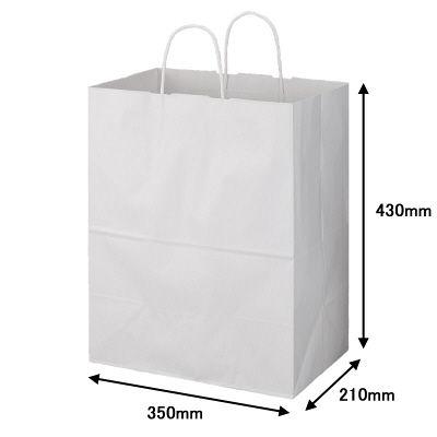 丸紐 手提げ紙袋 白 L 600枚