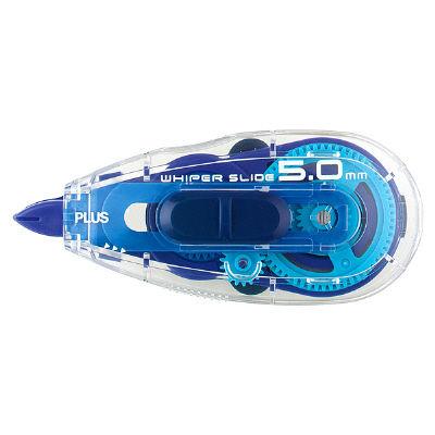 修正テープ ホワイパースライド 本体 WHー015 幅5mm×10m ベーシックブルー 10個 プラス(直送品)