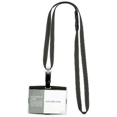 ソニック IDハードケース&ストラップ ヨコ型 ブラック AL-842-D 1袋(5組入) (直送品)