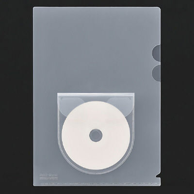 プラス ディスクポケット付ホルダー A4 FLー169HO 1袋(100枚:10枚入×10袋) (直送品)