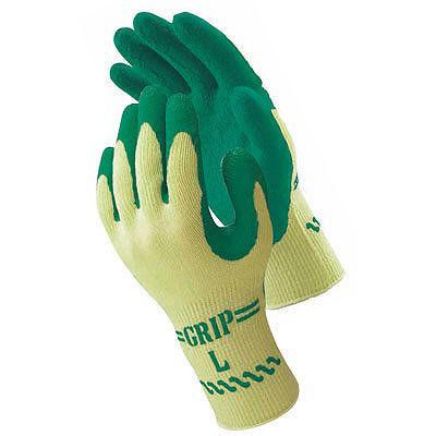 ショーワグローブ ゴム手袋 グリップ(ソフトタイプ) Lサイズ グリーン 310 1セット(30双:1双入×30袋)