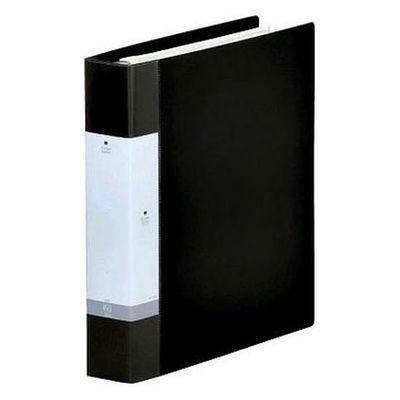 クリヤーブック 差し替え式 30穴 A4タテ 45ポケット 背幅5.5cm 4冊 黒 G3806-24 リヒトラブ