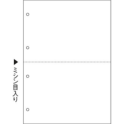 ヒサゴ マルチプリンタ帳票(FSC) FSC2003 A4 白紙2面4穴 1セット(100枚入×3冊)