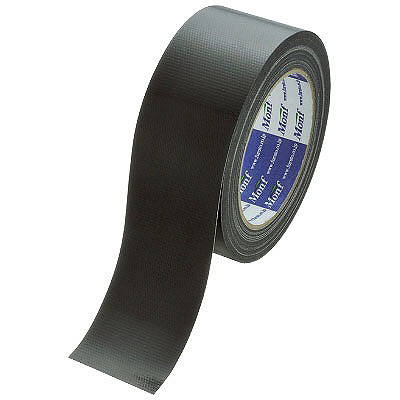 Monf カラー布テープ No.890カラー 0.22mm厚 50mm×25m巻 黒 1セット(90巻:30巻入×3箱) 古藤工業
