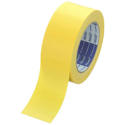 Monf カラー布テープ No.890カラー 0.22mm厚 50mm×25m巻 黄 1セット(90巻:30巻入×3箱) 古藤工業