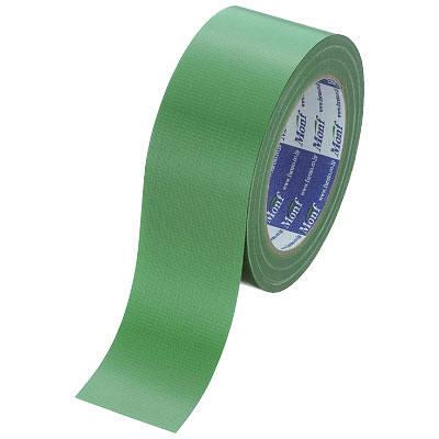 Monf カラー布テープ No.890カラー 0.22mm厚 50mm×25m巻 緑 1セット(90巻:30巻入×3箱) 古藤工業