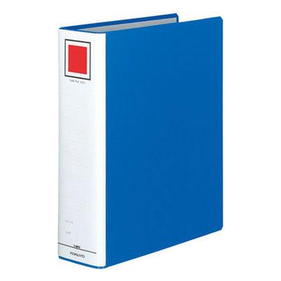 コクヨ チューブファイル(エコ) A4タテ とじ厚70mm 2穴 ブルー フーE670B 1箱(10冊入)