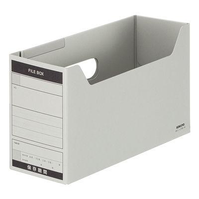 コクヨ ファイルボックス-FS Bタイプ B4 1/3ヨコ 背幅102mm グレー B41/3-LFBN-M 1袋(5冊入)