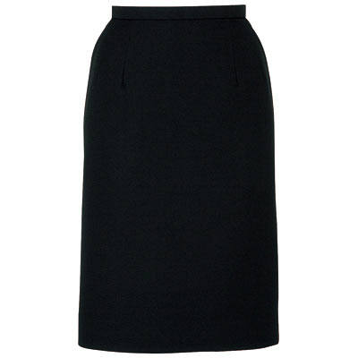 BON(ボン) 事務服 フェミニンチェックライン タイトスカート ブラック 9号 HW2249A 1着 (取寄品)