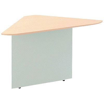 プラス スチールローカウンター コーナー 天板メープル 1台 (取寄品)