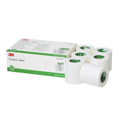 スリーエム ジャパン トランスポアTMホワイト サージカルテープ 50mm×9.1m 1534ー2 1箱(6巻入)