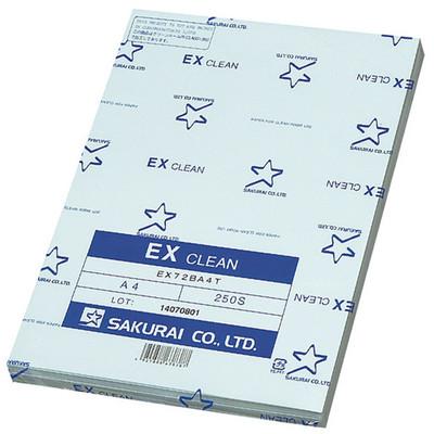 桜井 「現場のチカラ」 EXクリーン ブルー A4 クラス1000対応 EX72A4CASK 1箱(2500枚)