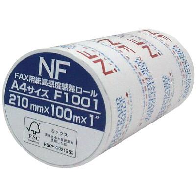 三菱製紙 FSC FAX感熱ロール紙 A4 幅210mm×長さ100m×芯径1インチ 1本