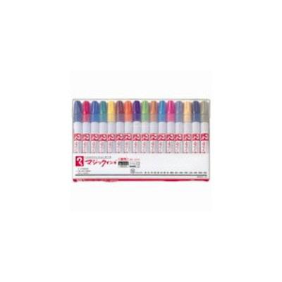 油性ペン マジックインキNo.500 細書き 16色セット 寺西化学工業 M500C-16(直送品)