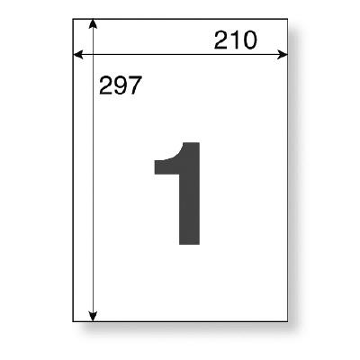 アスクル マルチプリンター強粘着ラベル ノーカット A4 1冊(20シート入)