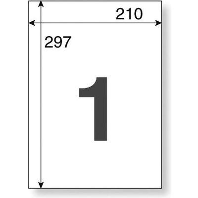 アスクル マルチプリンター強粘着ラベル ノーカット A4 1冊(100シート入)