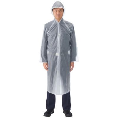 川西工業 ビニールポケットコート 100cm 1箱(12着:1着×12)