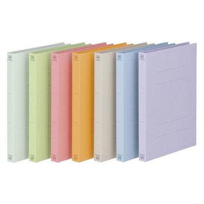 プラス フラットファイル厚とじ A4タテ 36冊 7色アソート No.021NW 樹脂製とじ具