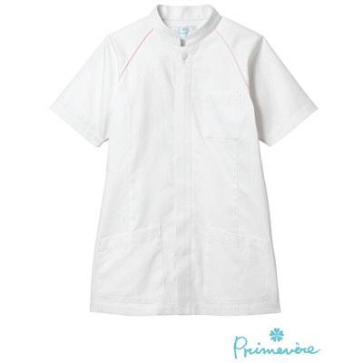 【メーカーカタログ】 サンペックスイスト ジャケットSTー406 ホワイト×ピンク L ST-406-WHP 1枚  (取寄品)
