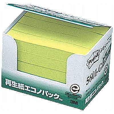 スリーエム ポスト・イット(R)ふせんハーフ エコノパックTM 再生紙 75×12.5mm グリーン 20冊
