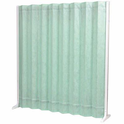 三和製作所 折畳スクリーン 高さ1650mm グリーン (直送品)