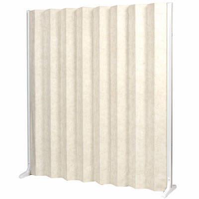 三和製作所 折畳スクリーン 高さ1650mm ホワイト (直送品)