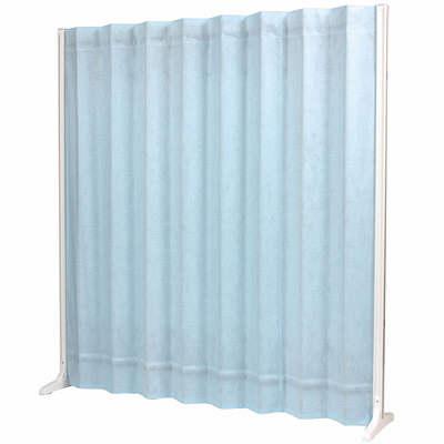 三和製作所 折畳スクリーン 高さ1800mm ブルー (直送品)