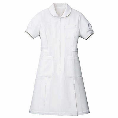 AITOZ(アイトス) パフスリーブワンピース(ナースワンピース) 半袖 ホワイト LL 861337-001(直送品)