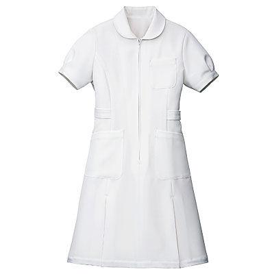 アイトス パフスリーブワンピース(ナースワンピース) 861337-001 ホワイト 6L (直送品)