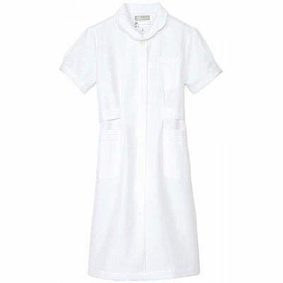 アイトス 花形ボタンワンピース(ナースワンピース) 861336-001 ホワイト LL (直送品)