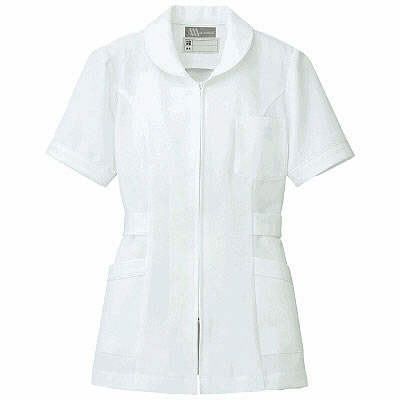 アイトス ナースジャケット(パイピング) 861338-001 ホワイト 4L (直送品)