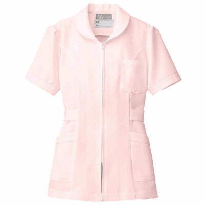 AITOZ(アイトス) ナースジャケット(パイピング) 女性用 半袖 ピンク 5L 861338-060 (直送品)