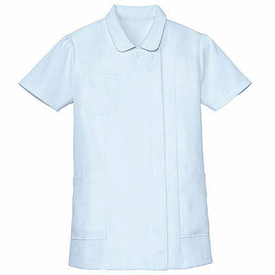 AITOZ(アイトス) ナースジャケット(ベーシック) 女性用 半袖 サックスブルー 3L 861346-007 (直送品)
