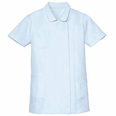 AITOZ(アイトス) ナースジャケット(ベーシック) 女性用 半袖 サックスブルー 4L 861346-007 (直送品)