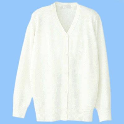 AITOZ(アイトス) 長袖抗ピルカーディガン 女性用 ホワイト 3L 861381 (直送品)