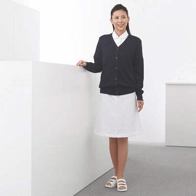 AITOZ(アイトス) 長袖抗ピルカーディガン 女性用 ネイビー 3L 861381 (直送品)