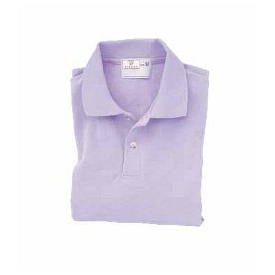 トンボ キラク 長袖ポロシャツ  ラベンダー  LL  LL CR054-80 1枚  (取寄品)