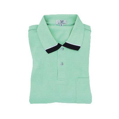 トンボ キラク 長袖ポロシャツ  ミント  3L CR062-40 1枚  (取寄品)