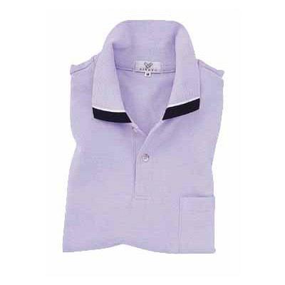 トンボ キラク 長袖ポロシャツ  ラベンダー  3L  3L CR062-80 1枚  (取寄品)