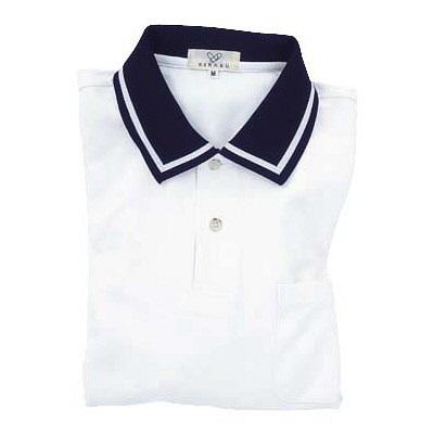 トンボ キラク 長袖ポロシャツ ホワイト LL CR088-01 1枚  (取寄品)