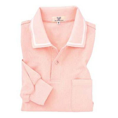トンボ キラク 長袖ポロシャツ オレンジピンク S CR088-13 1枚  (取寄品)