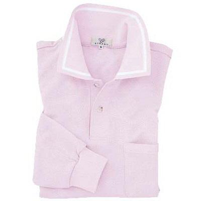 トンボ キラク 長袖ポロシャツ ライラック L CR088-81 1枚  (取寄品)
