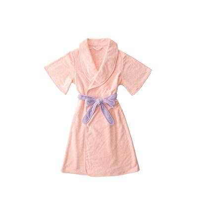 カラリモア 吸水バスローブ ピンク