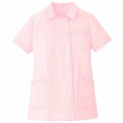 AITOZ(アイトス) オープンネックチュニック(ナースジャケット) 半袖 ピンク 5L 861369-060 (直送品)