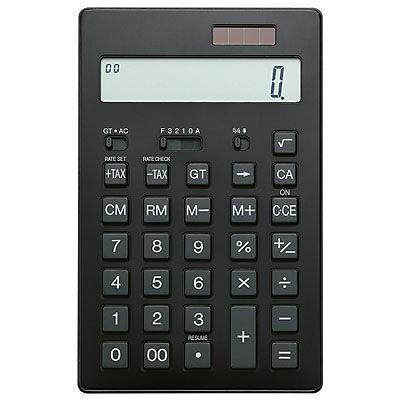 電卓 12桁 黒