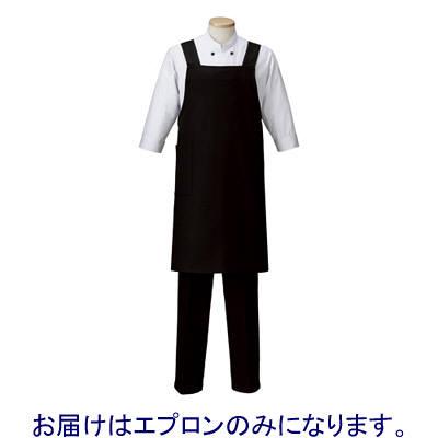 アイトス 胸当てエプロン ブラック F HS2506-010-F 1着 (直送品)