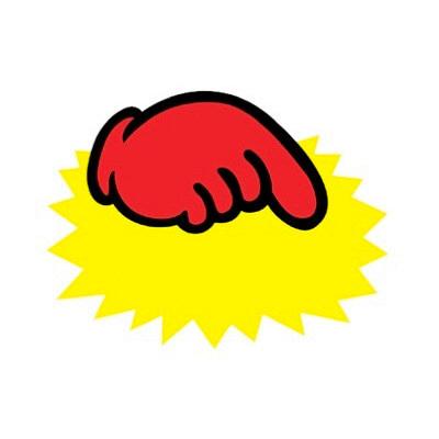 タカ印 クラフトPOP ゆび中 無字 13-3510 1袋(10枚入×5冊) (取寄品)