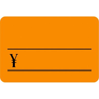 タカ印 ケイコーカード 大 ¥入り 橙 14-3644 1箱(30枚入×5冊) (取寄品)
