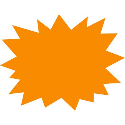 タカ印 ケイコーカード 爆発型 大 橙 14-3914 1箱(30枚入×5冊) (取寄品)